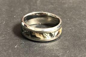 Men's Band Camo Titanium Ring