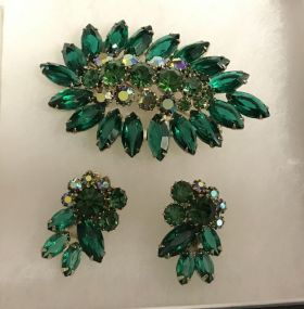 Vintage Weiss Brooch & Earrings