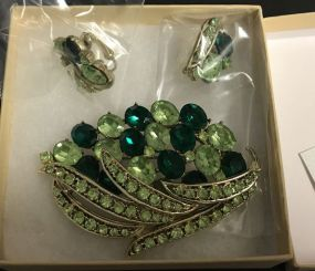 Coro Vintage Brooch and Earrings
