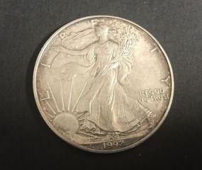 1992 Silver American Eagle Coin