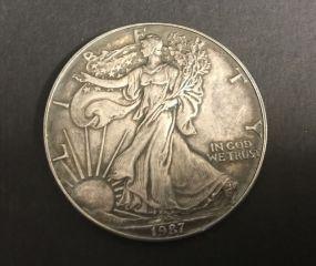 1987 Silver American Eagle Coin