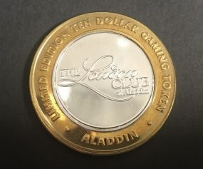 The London Club at Aladdin Ten Dollar Token .999 Silver