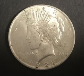 1922 Peace Liberty Dollar