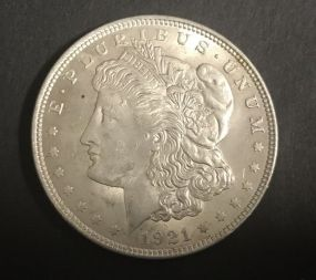 1921 Morgan Dollar Coin