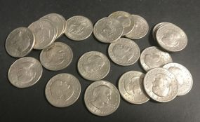 22 Susan B. Anthony One Dollar Coins