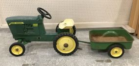 Vintage John Deere 4020 Diesel Paddle Car with Trailer