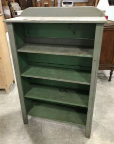 Primitive Style Painted Display Cabinet