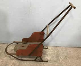 Early 1900's Child's Push Sled
