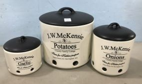 Three Piece J.W. McKensie Containers