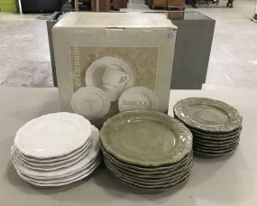 16 Piece Earthernware Set and Additional Earthernware Plates