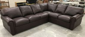 American Leather Company Brown Sectional Sofa