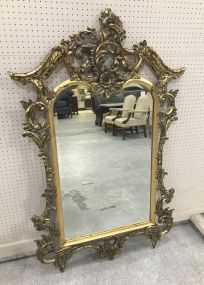 John Richard Ornate Gold Leaf Antique Reproduction Wall Mirror
