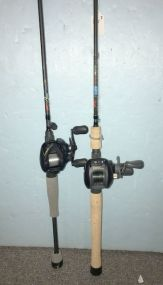Shimano 150 Caius and Bass Pro Crappie Max