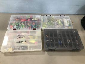 Four Plastic Cases of Lures