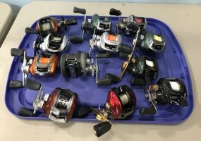 Collection of Assorted Style Fishing Reels