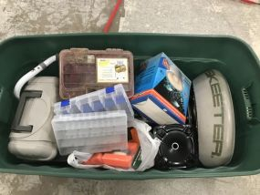 Crate of Fishing and Boat Accessories