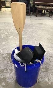 Bucket with Paddle, Paddles, Buoys