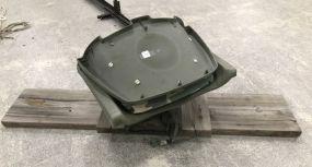 Folding Boat Seat Mounted on Wood Platform