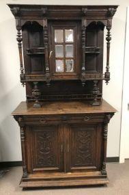 Antique Circa 1900 English Hunting Cabinet