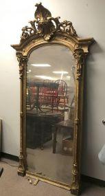 Large Antique Gold Gilt Parlor Mirror