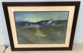 Gary Walters Early Yazoo Farm Water Color