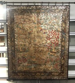 Modern Decorative Large Hand Painted Cloth Panel