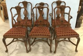 Six Mahogany Queen Anne Dining Chairs