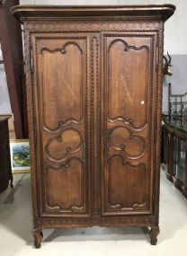 19th Century French Louis XV Style Marriage Armoire