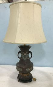 Antique Pair of Old French Chinoiserie  Urn Lamp