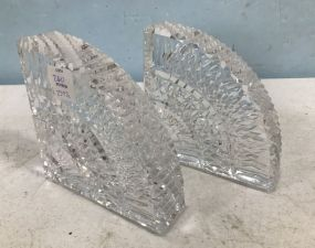 Waterford Crystal Quadrant Bookends