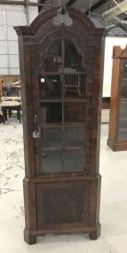 Antique Chippendale Style Corner Bookcase
