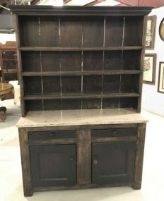 Antique Step Back Welsh Cabinet