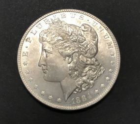 1884 Morgan Dollar Coin