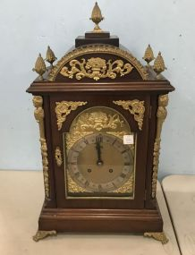 19th Century Large Ormolu Mounted Gilt Bronze Chiming Bracket Clock