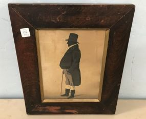 Reuben Wright Silhouette Painting of William Brodhurst 1845