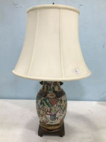 Antique Asian Style Vase Lamp