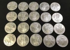 Twenty 1999 American Eagle Coins