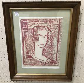 Marie Hull Wood Block Print