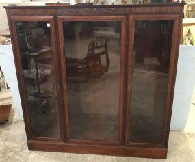 Beautiful Vintage Three Door Bookcase
