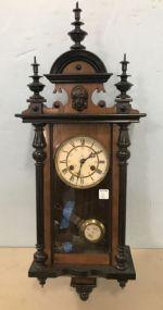 Antique Junghans German Walnut Wall Clock