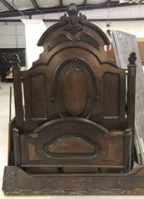 Antique High Back Victorian Style Bed