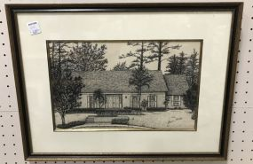 Laurin Stennis Ink Drawing of Home