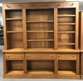 Large Two Piece Bookcase Cabinet