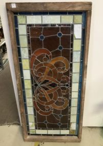 Beautiful Leaded Stain Glass Panel