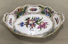 Dresden Hand Painted Porcelain Dish