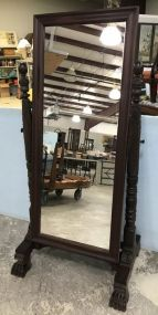 Empire Revival Mahogany Cheval Stand