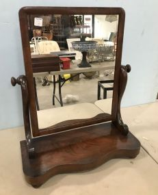 Antique Empire Style Dresser Shaving Mirror Stand
