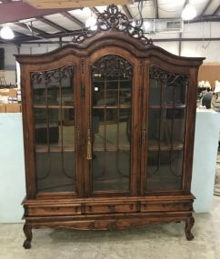 Ornate French Reproduction Bookcase