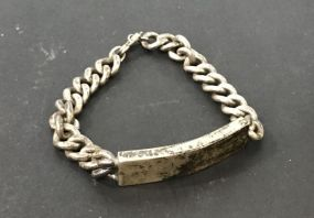 Vintage ID Bracelet Marked Sterling