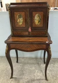 French Empire Two Piece Writing Secretary Desk